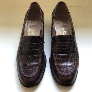Salvatore Ferragamo Vintage Brown Dress Loafers